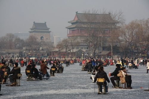 houhai lake ice skating