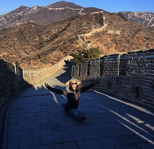 Katy Perry on the Great Wall of China