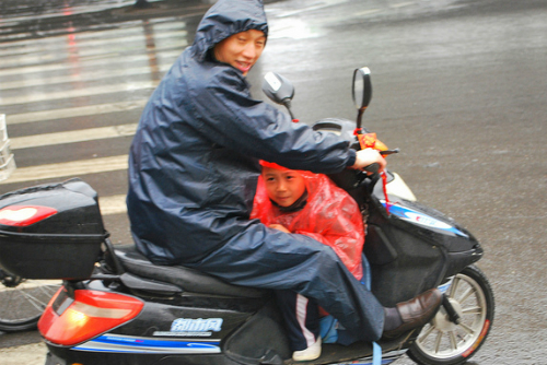 Family wet weather scooter China