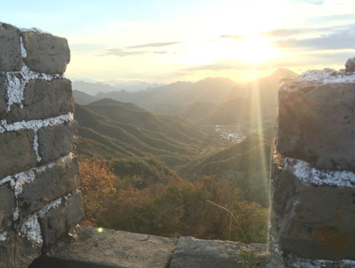 Sunrise from the Great Wall