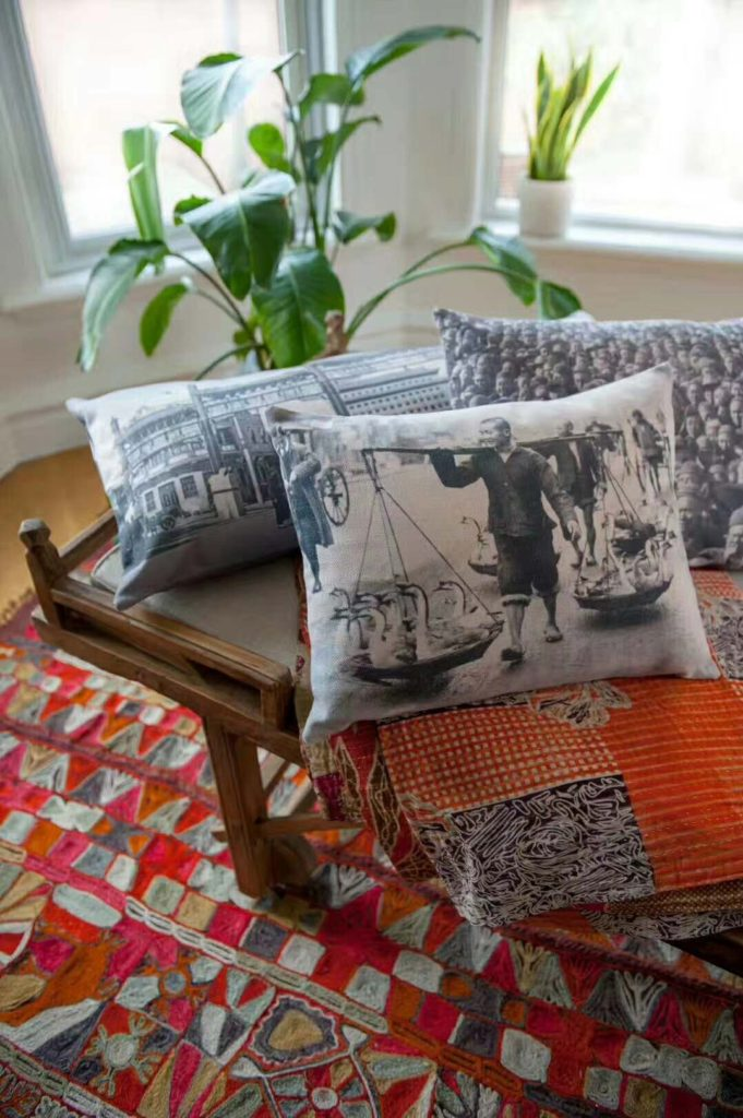 Beijing Postcards cushions