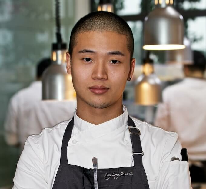 Chef Jason Liu in his new Beijing restaurant, Ling Long